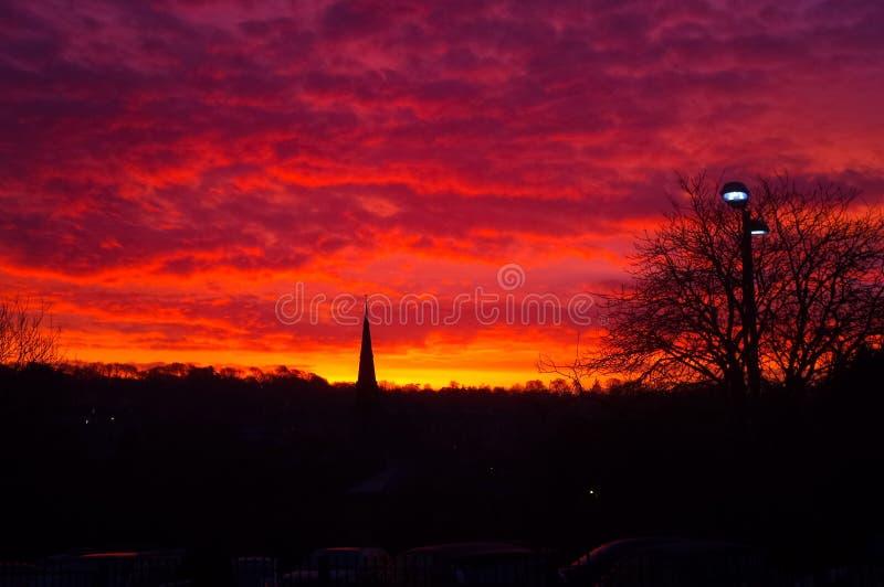 Wunderbarer Sonnenuntergang über Bad Spal, Großbritannien stockfotos