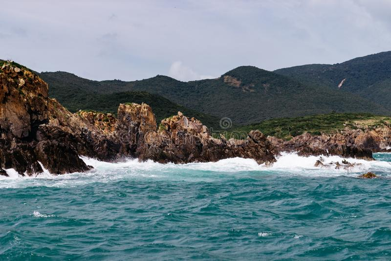 Wunderbarer voller Tag in Meer stockfoto