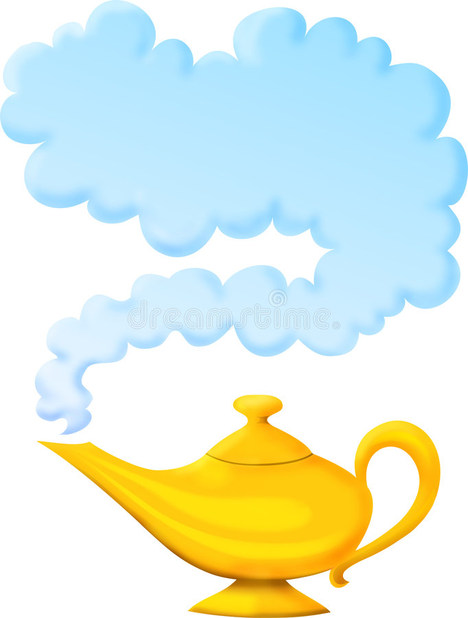 Wunderlampe Stock Abbildung Illustration Von Wolke