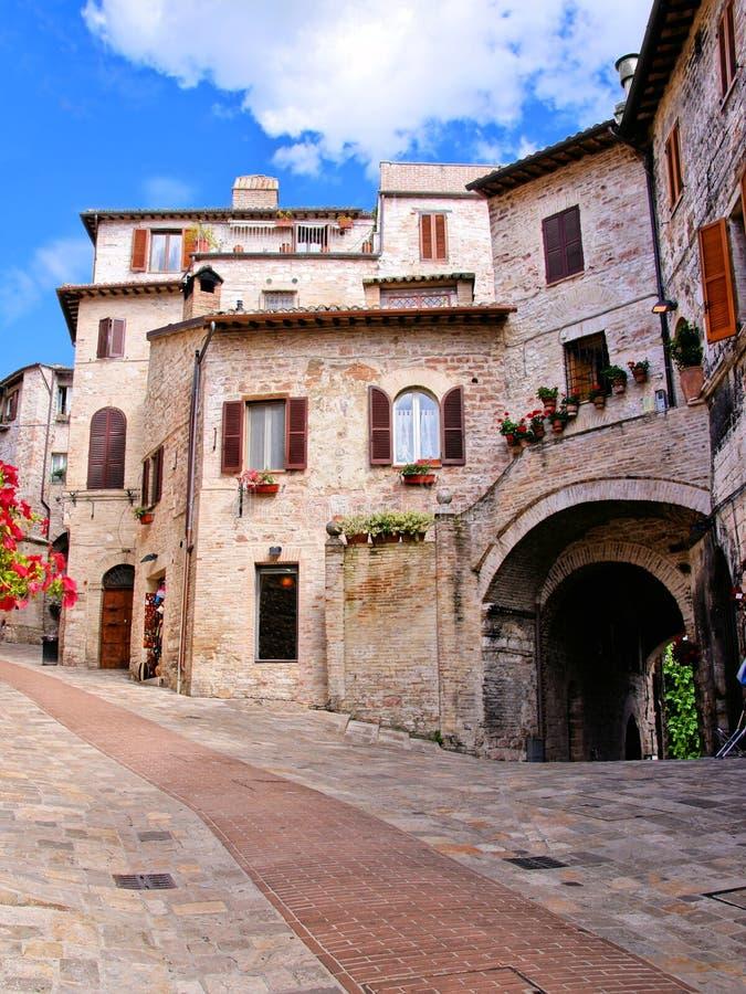 Wunderliche italienische Häuser stockbild