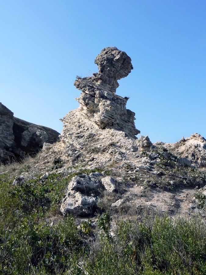 Wunderlicher Felsen stockfoto