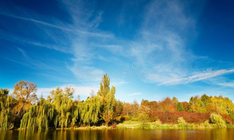 Wundervolle Ansicht von Herbstsee. lizenzfreie stockfotos