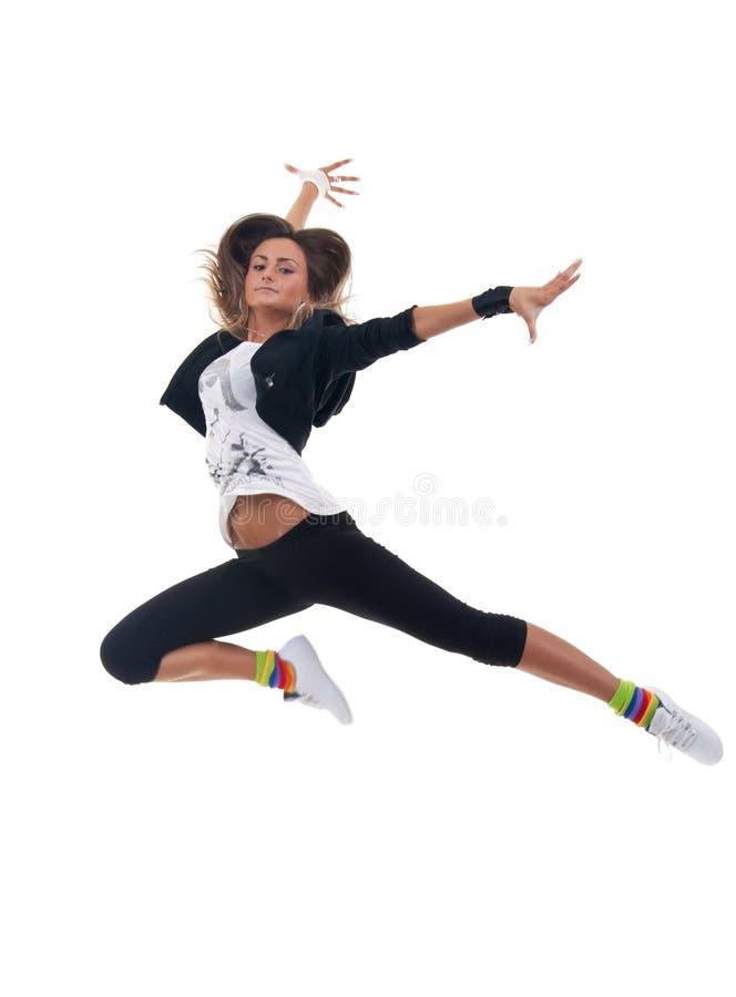 Wundervolle Ballerina tanzt würdevoll lizenzfreies stockfoto