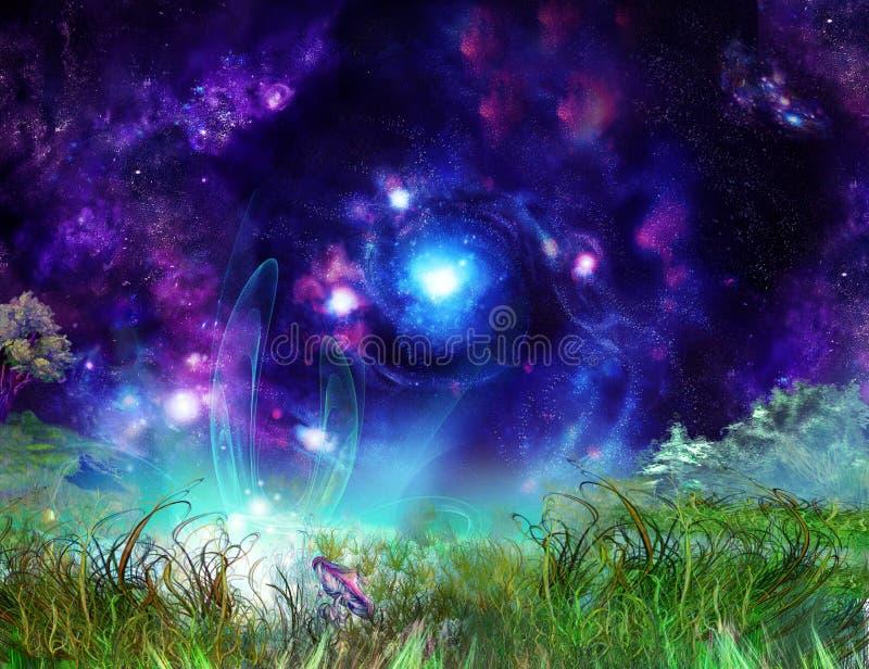 Wundervoller Hintergrund der Märchen stock abbildung