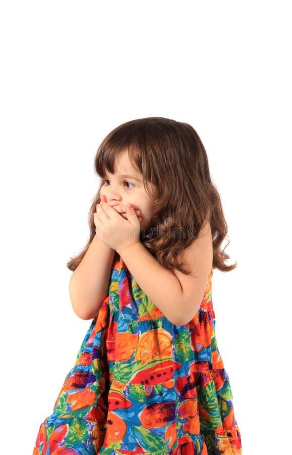 Wunsch des kleinen Mädchens stockfotografie