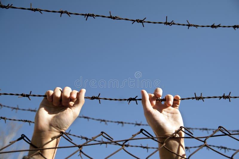 Wunsch nach Freiheit stockbilder