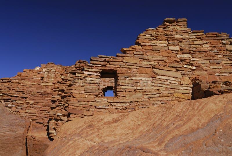 Wupatki indische Pueblo-Ruine stockbild