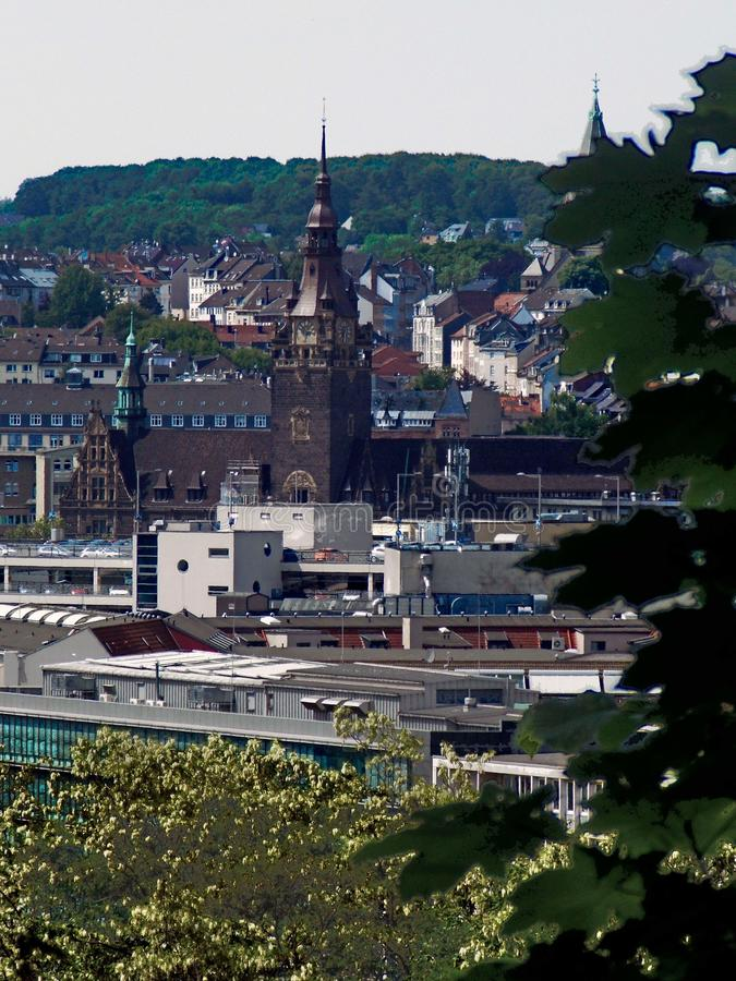 Wuppertal desde arriba imagen de archivo