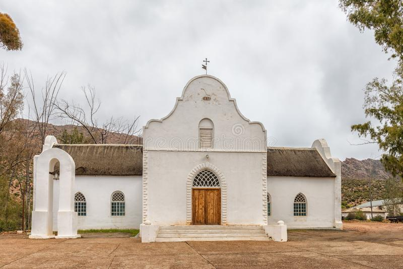 Moravian Church in Wupperthal in the Cederberg Mountains stock image