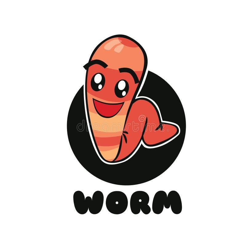 Wurm-netter Charakter lizenzfreies stockfoto