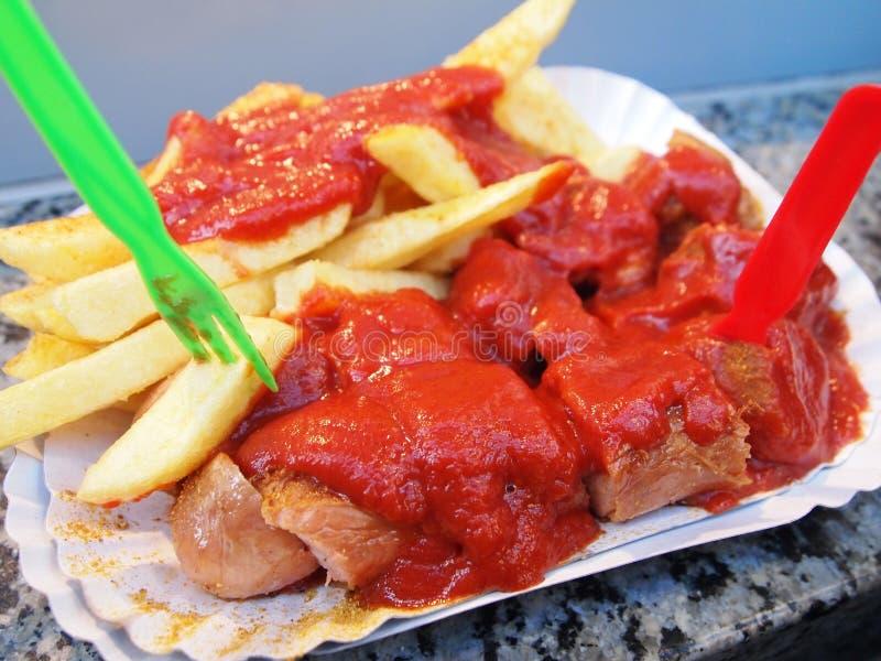 Wurst Berlino del curry immagini stock libere da diritti