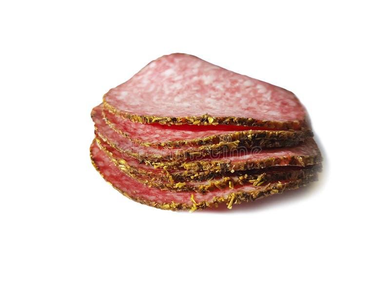 Wurst lokalisierte Salami geschnittenes †‹â€ ‹Protein, die Zartheit, traditionell stockfoto