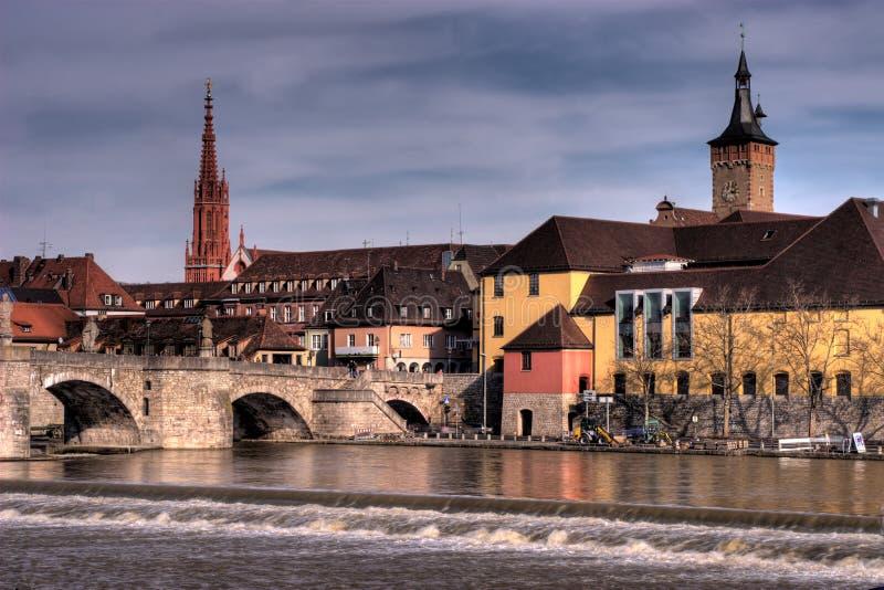 Wurzburg Riverfrontage imagens de stock royalty free
