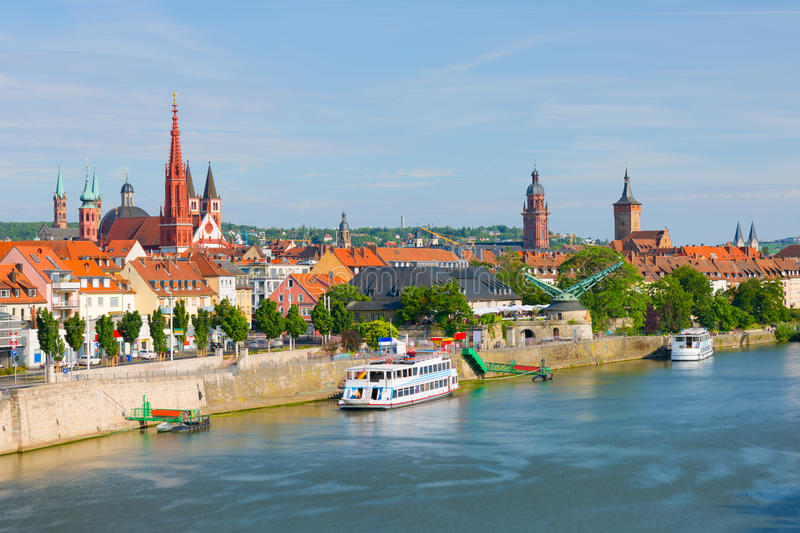 Wurzburg in a sunny summer day stock photography