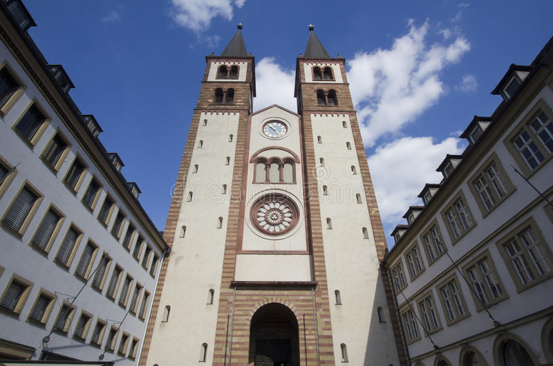 Wurzburger Dom, Deutschland lizenzfreie stockbilder