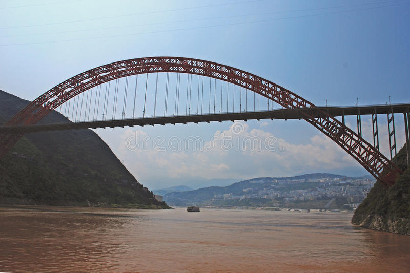 Wushan bridge stock images