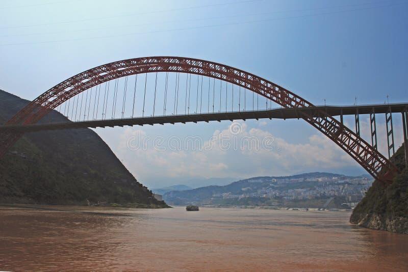 Wushanbrug stock afbeeldingen