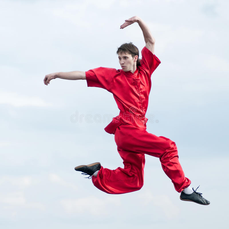 Download Wushoo Man In Red Practice Martial Art Stock Image - Image: 22139295
