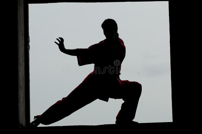 Download Wushoo Man In Red Practice Martial Art Royalty Free Stock Photography - Image: 23679927