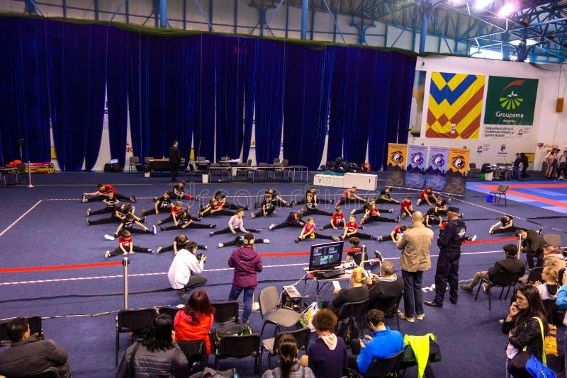 Wushu室内竞争在罗马尼亚 库存图片