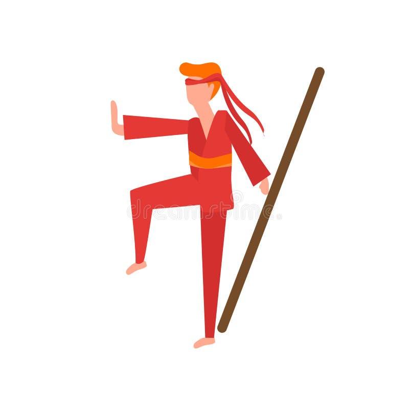 Wushu symbolsvektor som isoleras på vit bakgrund, Wushu tecken, mänskliga illustrationer, mänskliga illustrationer stock illustrationer
