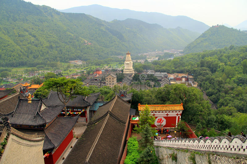 Wutai Mountain in Shanxi province, China. Wutai Mountain is located in Xinzhou city, Shanxi province, Wutai County, ranked first in China`s four famous Buddhist royalty free stock image
