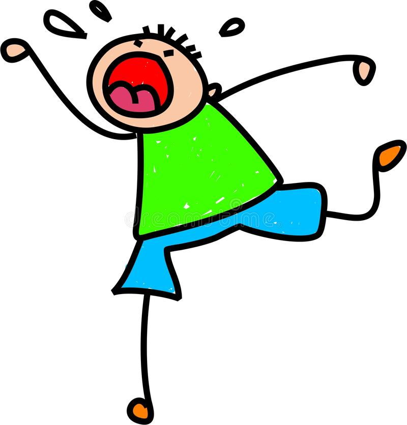 Wutanfall-Kind vektor abbildung