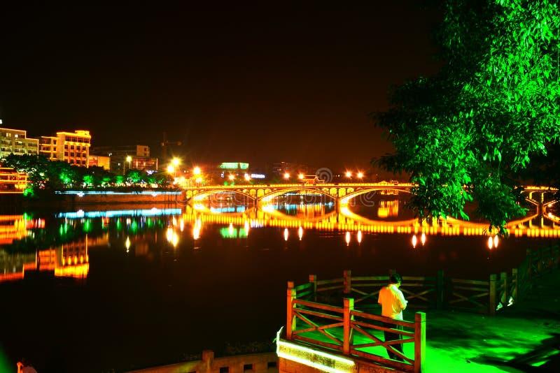 Wutongqiao noc zdjęcia stock