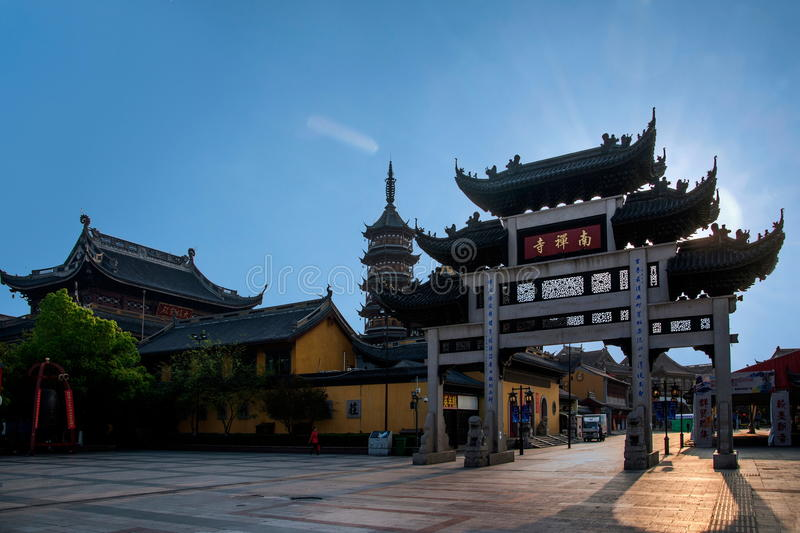 Wuxi, Jiangsu Province, South Temple arch royalty free stock photography