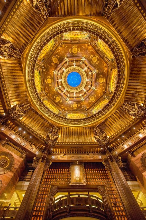 Wuxi Lingshan Buddha Mountain Scenic Area Lingshan Vatican Palace 'Sky Map' royalty free stock photo