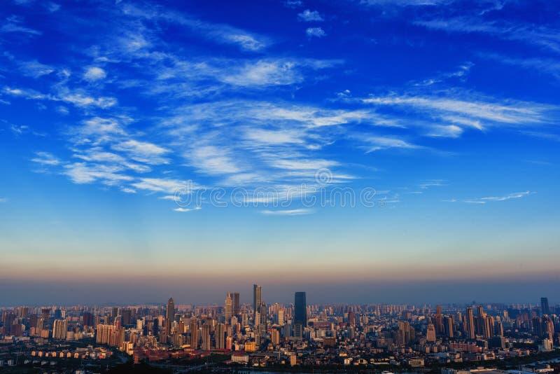Wuxi stadshorisont royaltyfria bilder