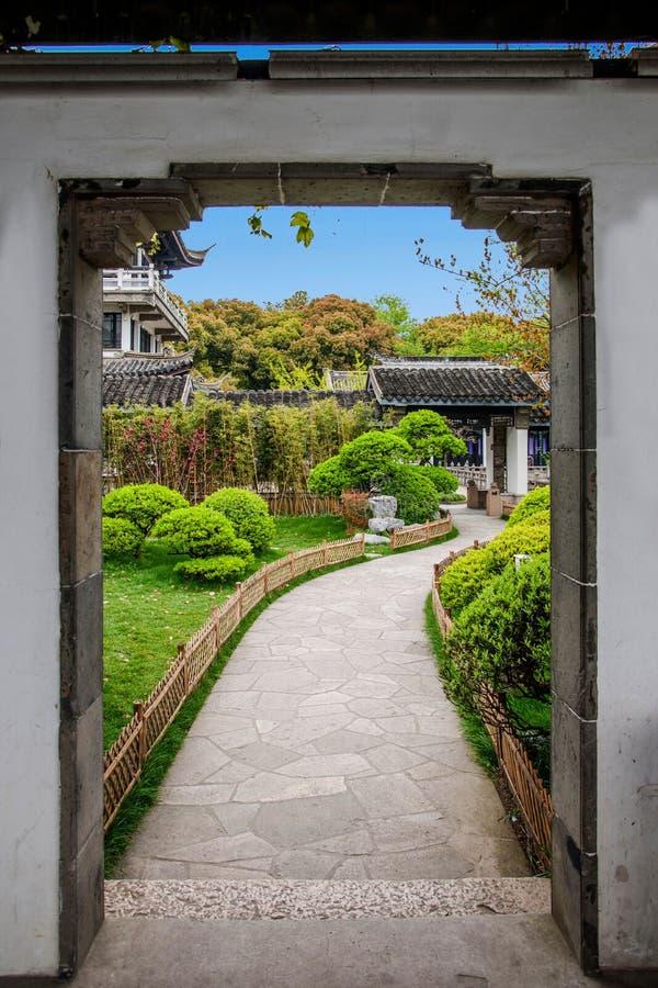 Wuxi Taihu Liyuan Garden Trails stock photo