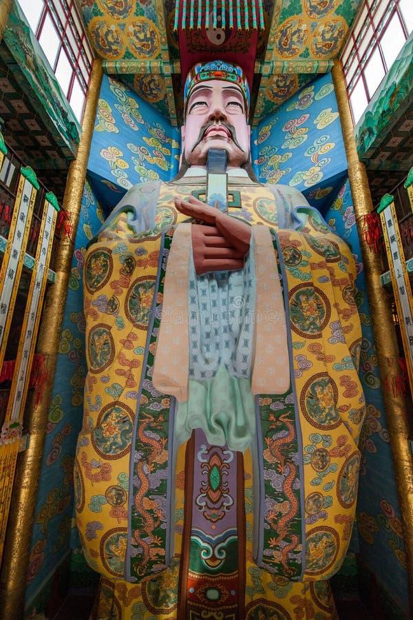 Wuxi Taihu Yuantouzhu Taihu den Lingxiao för sjöcent slotten Jade Emperor målade arkivbild