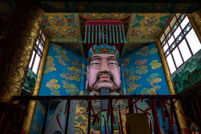 Wuxi Taihu Yuantouzhu Taihu den Lingxiao för sjöcent slotten Jade Emperor målade royaltyfria bilder