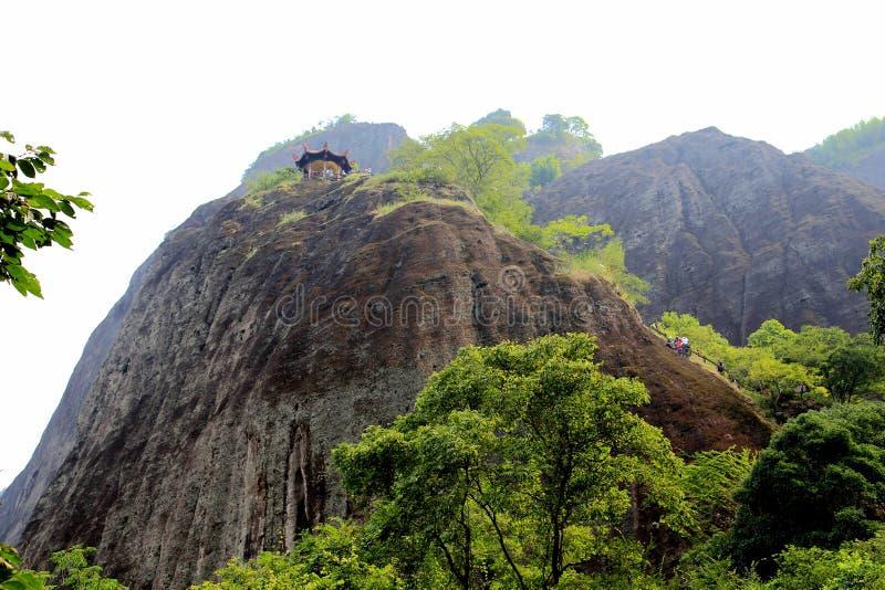 Wuyi góra danxia geomorfologii sceneria w Chiny obraz stock