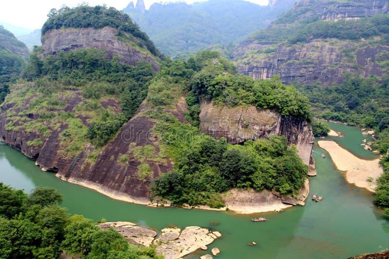 Wuyi góra danxia geomorfologii sceneria w Chiny zdjęcia stock