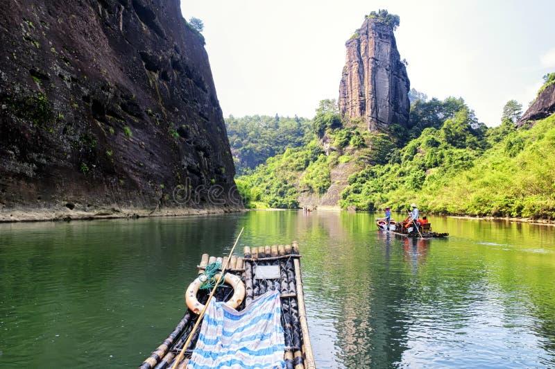Wuyishan dziewięć chyłu rzeki porcelana zdjęcie royalty free