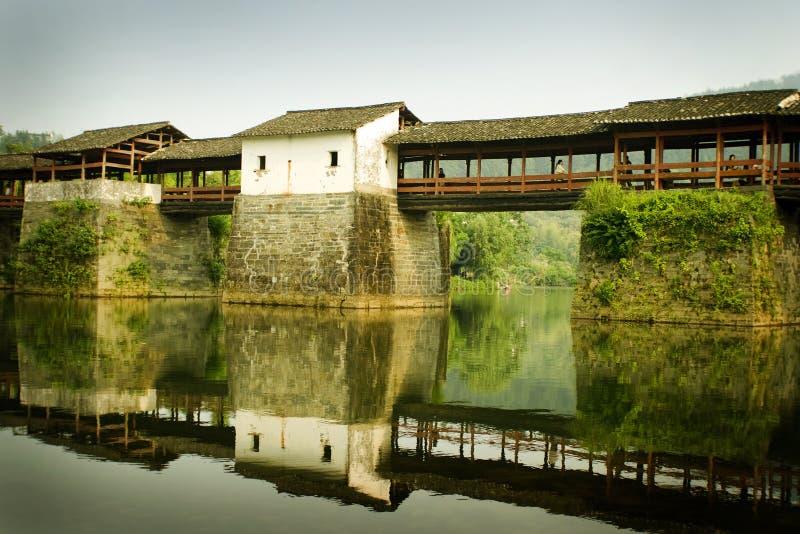 Wuyuan county, famous traditional chinese bridge stock photo