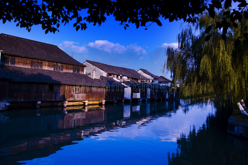 WUZHEN TOWN. It is in ZeJiang province in China , has a thousand years of history royalty free stock image