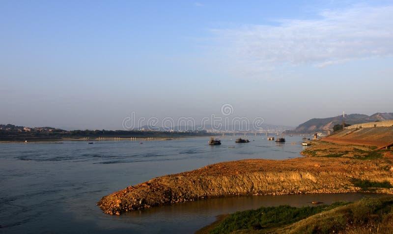 Wuzhou che trascura il Xijiang fotografia stock libera da diritti