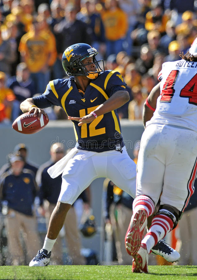 WVU Quarterback Geno Smith stockfotografie