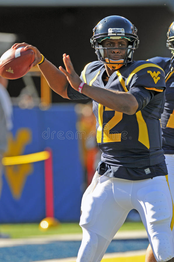 WVU Quarterback Geno Smith lizenzfreies stockbild