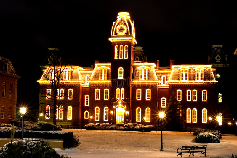 WVU Woodburn Hall photo stock