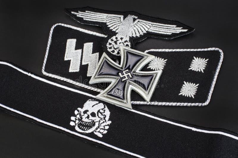 WW2与铁十字勋章奖的德国Waffen SS军事权威 图库摄影