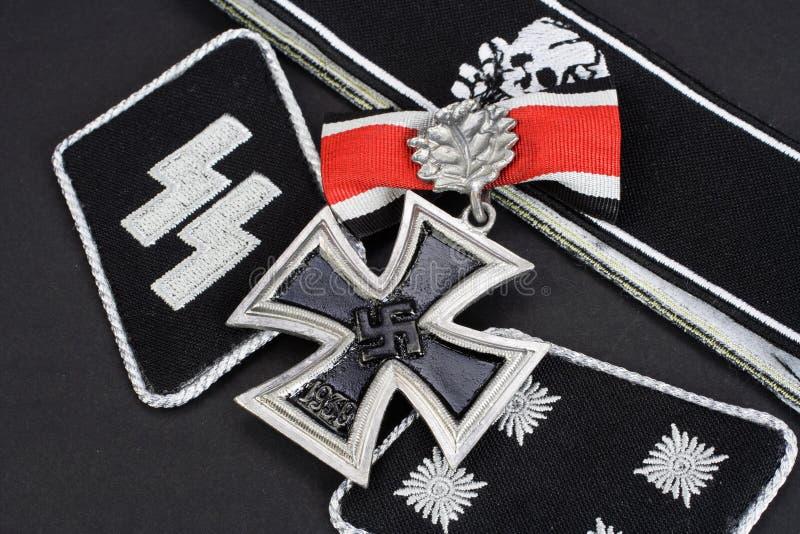 WW2与铁十字勋章奖的德国Waffen SS军事权威 库存图片