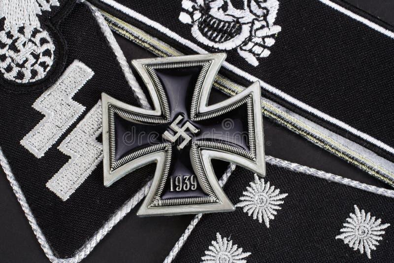 WW2与铁十字勋章奖的德国Waffen SS军事权威 库存照片