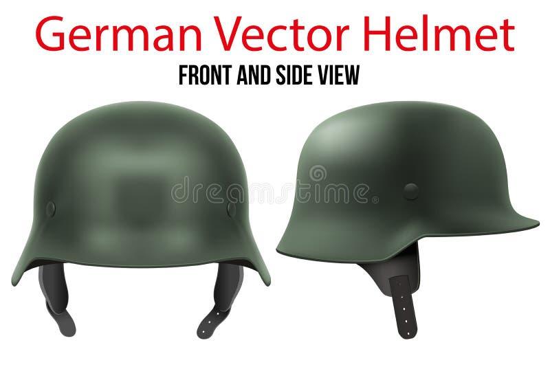 WW2军事德国盔甲  向量例证