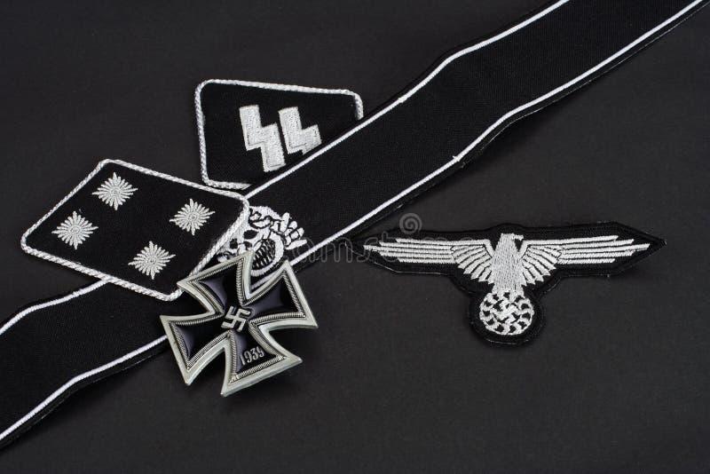 WW2德国Waffen SS军事权威 免版税库存照片