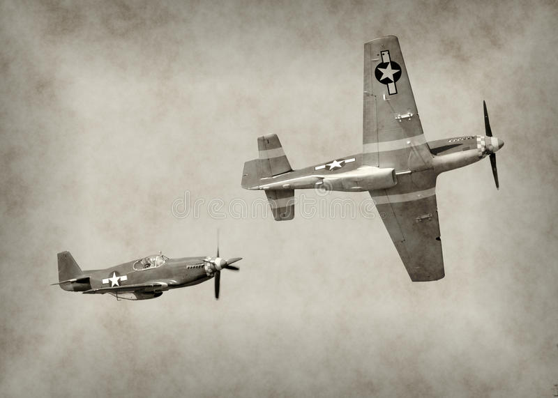 WW2时代战斗机 免版税库存图片