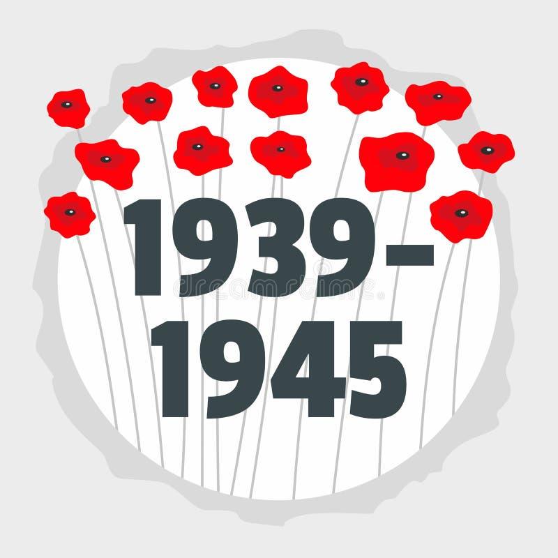 Ww2苏联胜利记住背景,平的样式 皇族释放例证